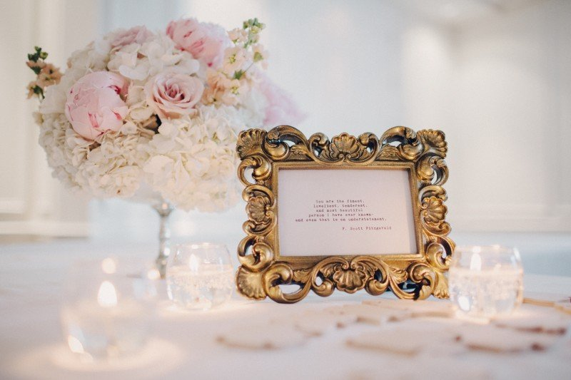 Blush pink and gold wedding ideas