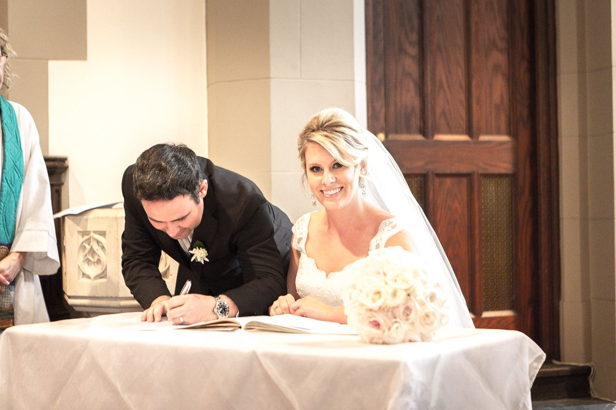 Canadian Memorial Church wedding ceremony