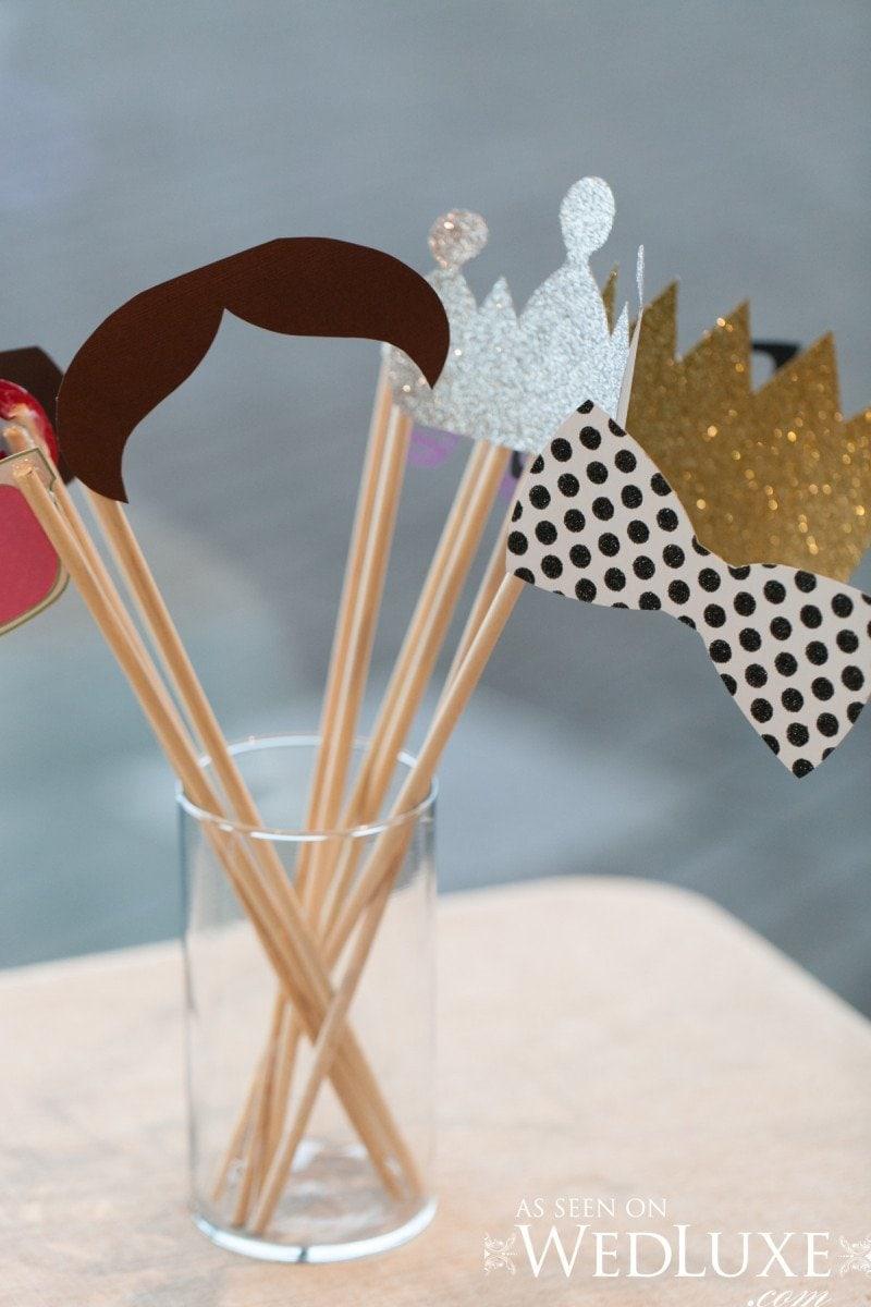 DIY photobooth wedding props  Alicia Keats Wedding Planner