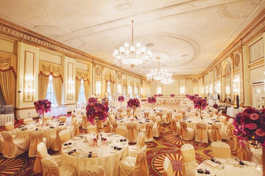 Fairmont Hotel Vancouver Pacific Ballroom Wedding