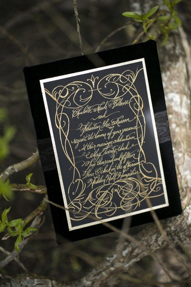 Gothic wedding invite