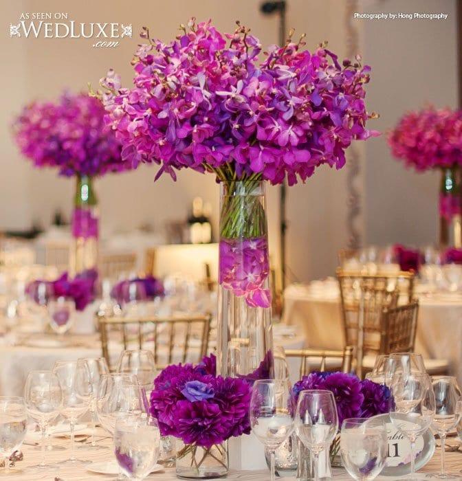 Hilary Miles wedding flowers purple