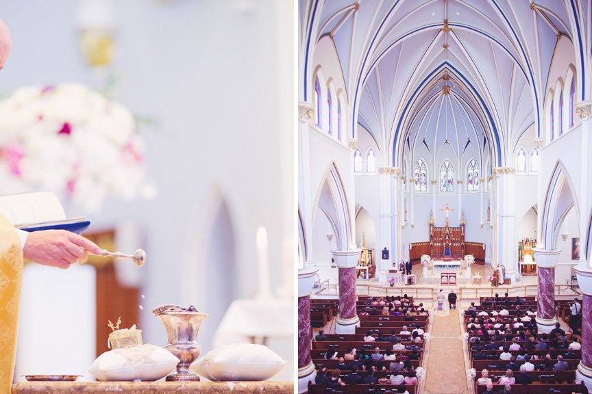 Holy Rosary Catherderal Wedding ceremony