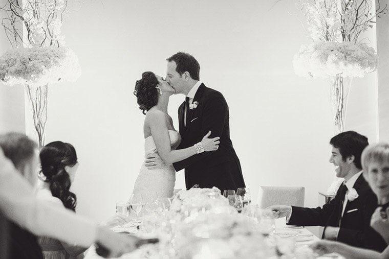 Kiss wedding