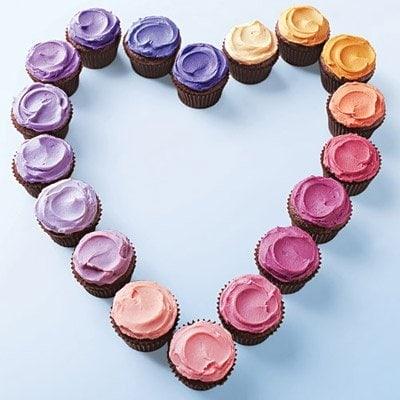 Martha cupcake heart valentines day