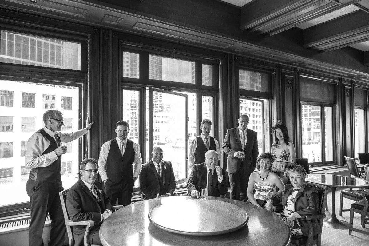 Member's lounge wedding Vancouver Club wedding