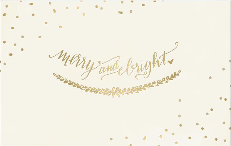 Merry and Bright gold poka dots