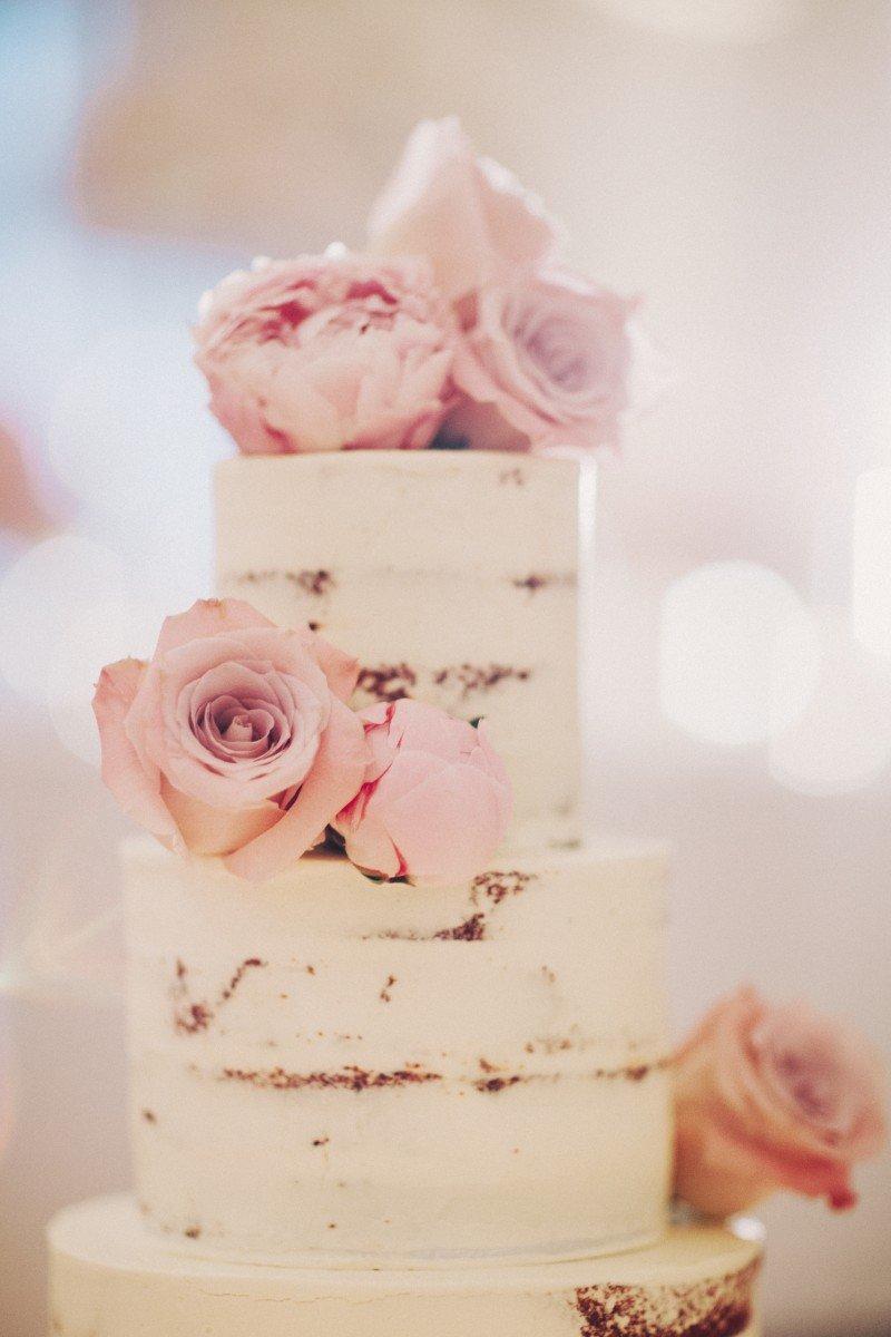 Mini naked cake pink
