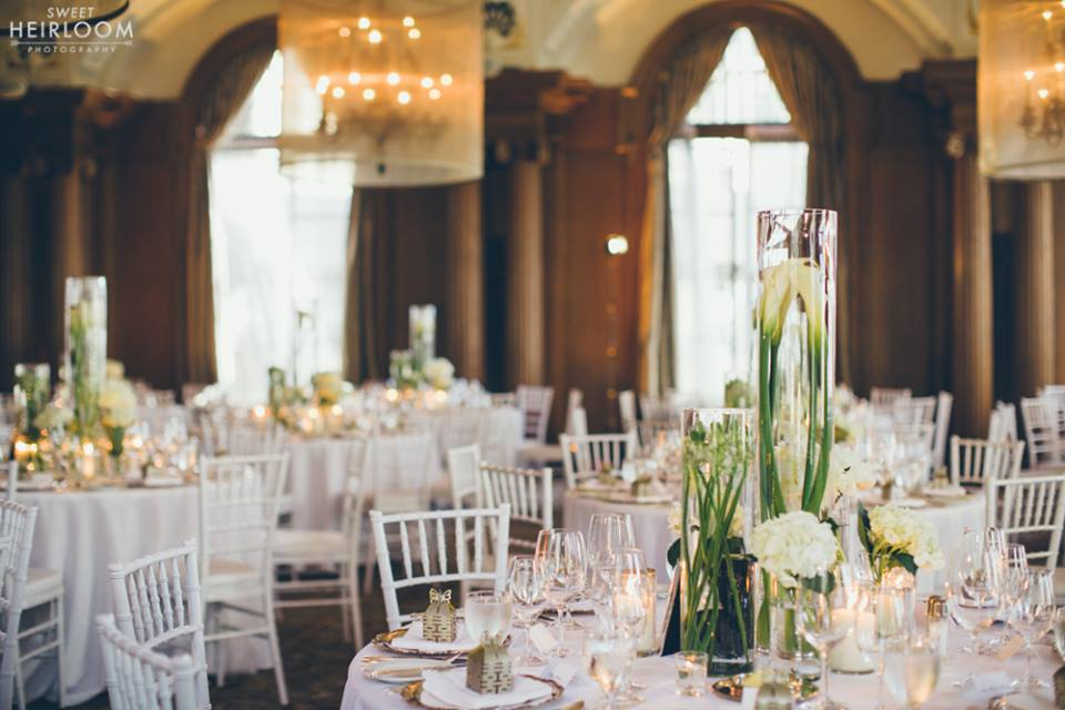 The Vancouver Club wedding white chairs