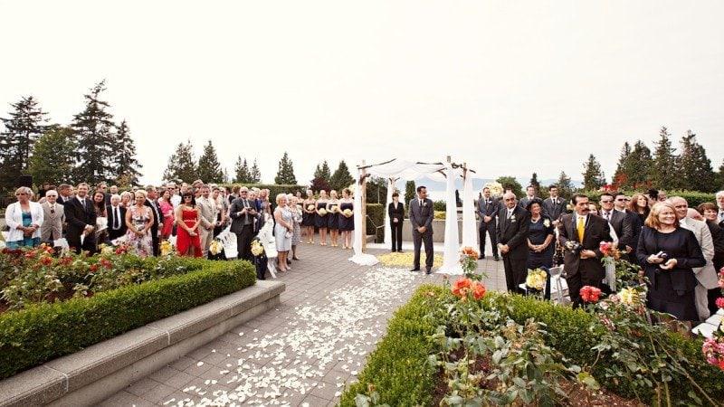 UBC Rose Garden Wedding Ceremony Vancouver