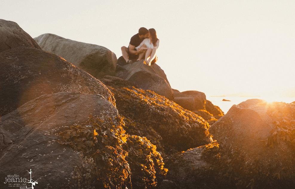 Vancouver sunset wedding