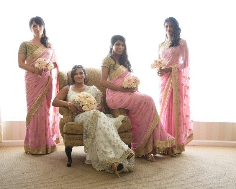 vancouver-wedding-bridesmaids-pink-sari
