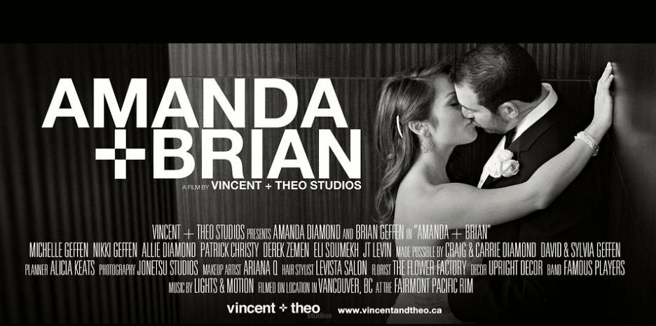 Vincent + Theo Amanda Diamond Fairmont Pacifc Rim