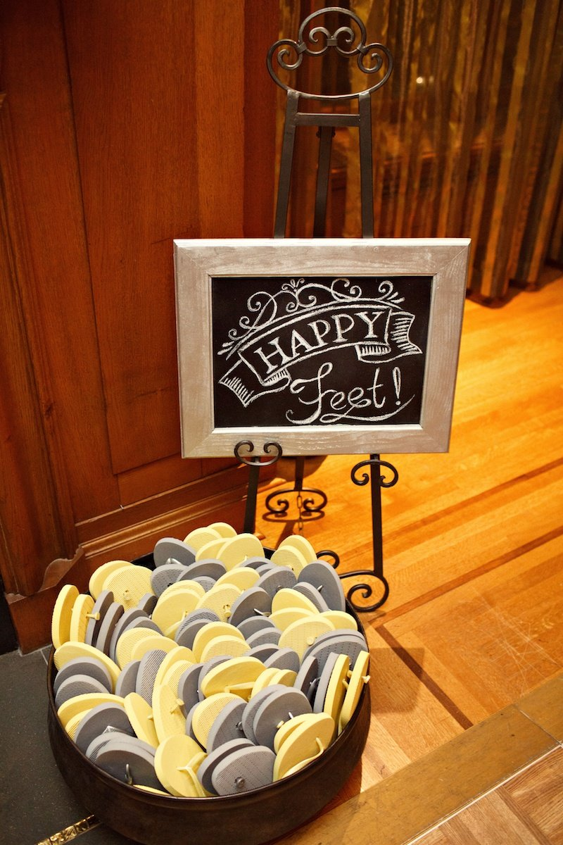 Yellow and Grey flip flops wedding Vancouver Wedding Planner Alicia Keats