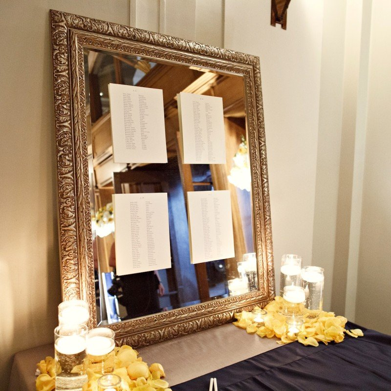 Yellow and Grey seating chart Vancouver Wedding Planner Alicia Keats