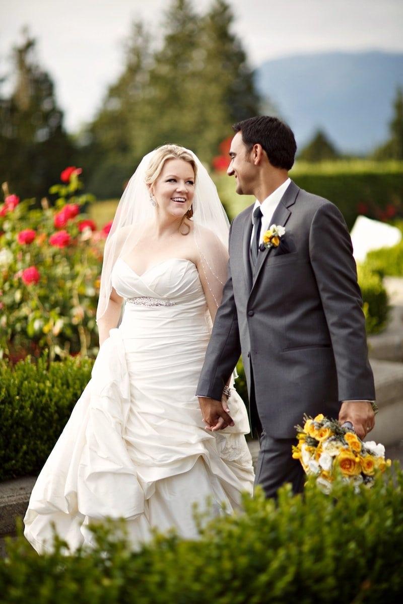 Yellow and grey wedding Vancouver wedding planner