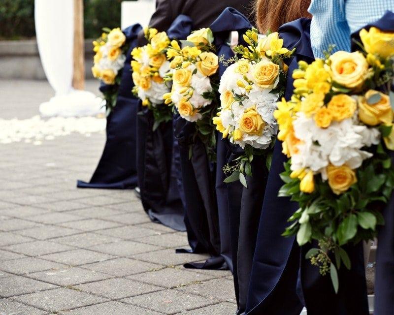 Yellow navy and grey wedding Vancouver Wedding Planner Alicia Keats