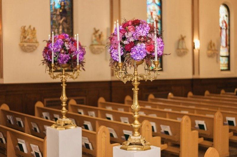 aisle floral arrangments