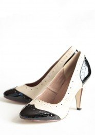 black and white vintage retro wedding shoe