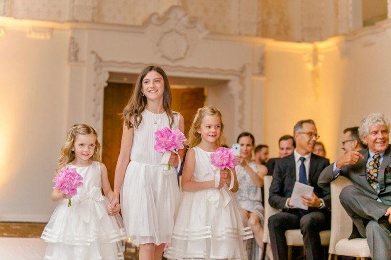 blush gold wedding