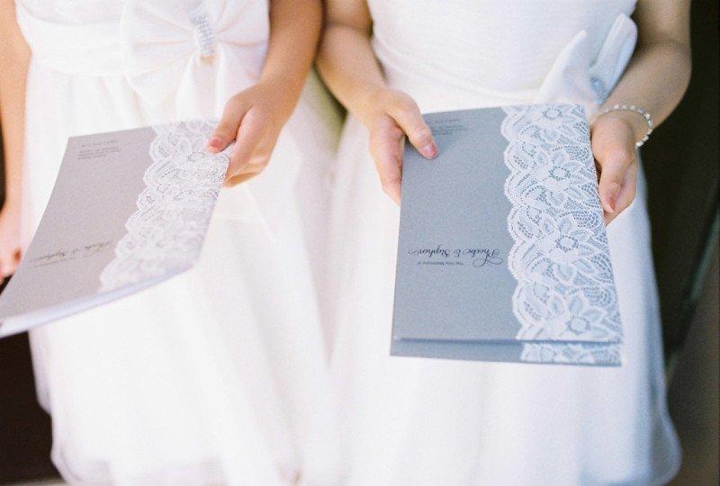 ceremony program wedding