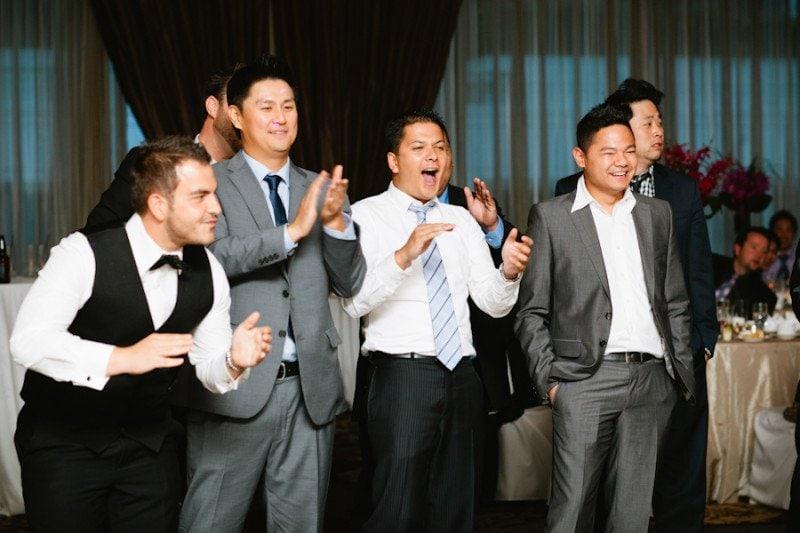 dancing wedding party