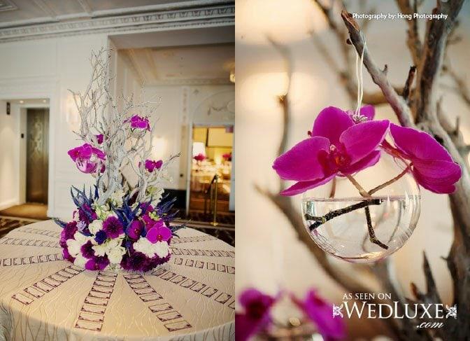 escort card table purple wedding