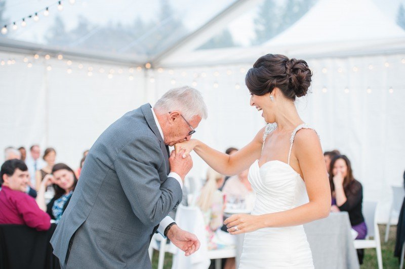 father and bride wedding