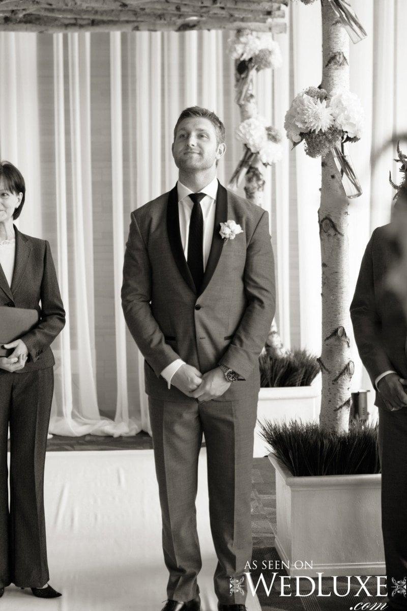 groom end of aisle Alicia Keats Weddings