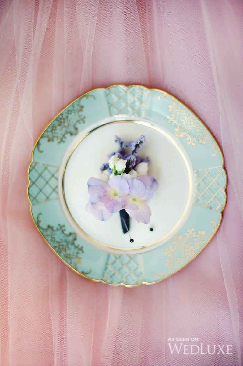 pink flower boutonnière