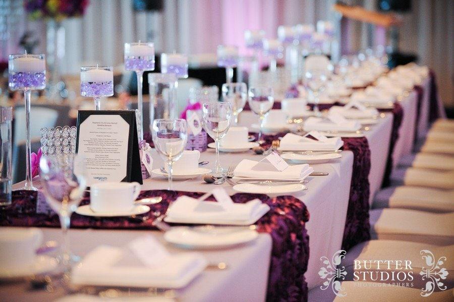 purple wedding decor debut