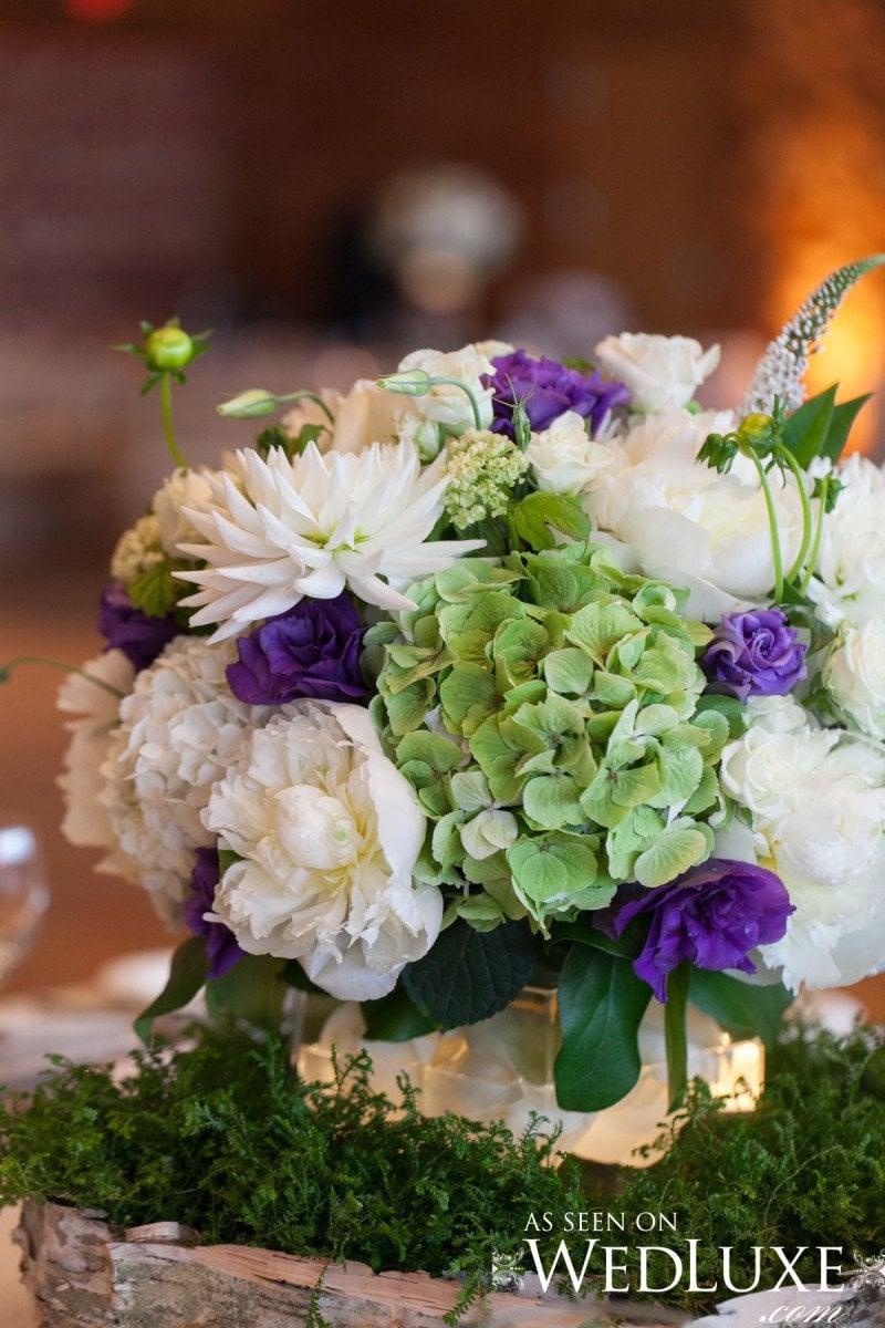 purple wedding flowers Hilary Miles  Alicia Keats Wedding Planner