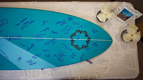surf board guestbook