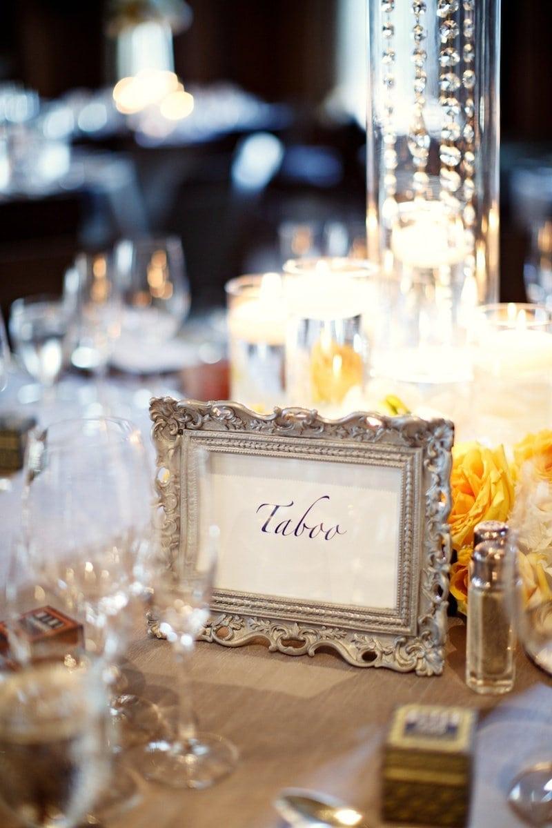 table names Alicia Keats Weddings + Events
