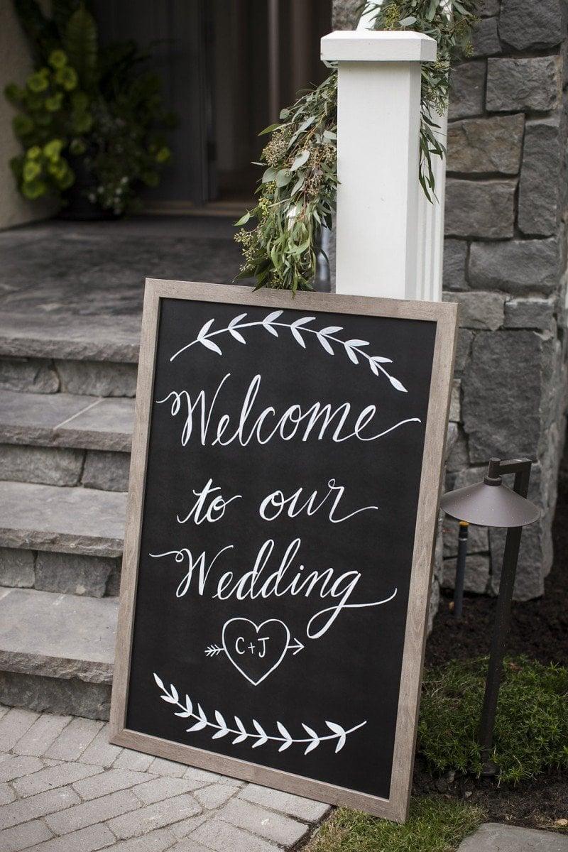 vancouver wedding signage