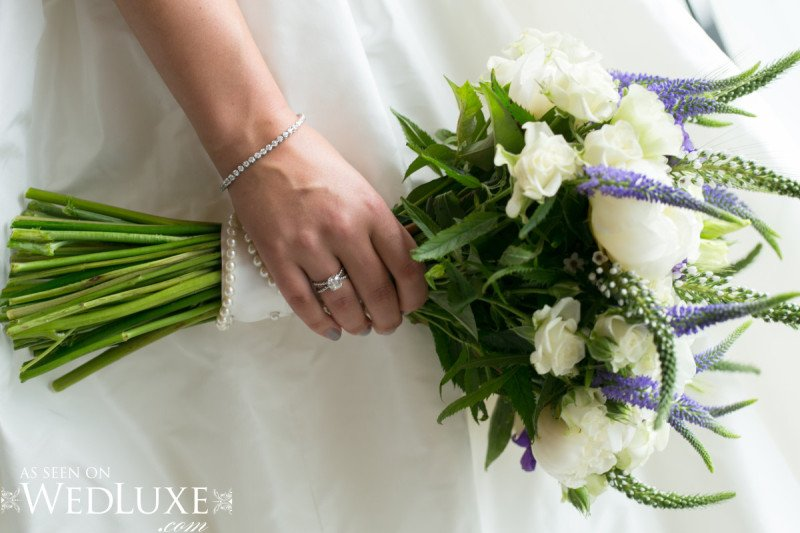 wedding bouquet green white purple natural Alicia Keats Weddings