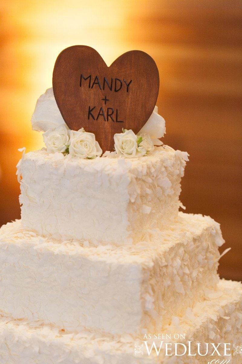 wedding cake white  Alicia Keats Wedding Planner