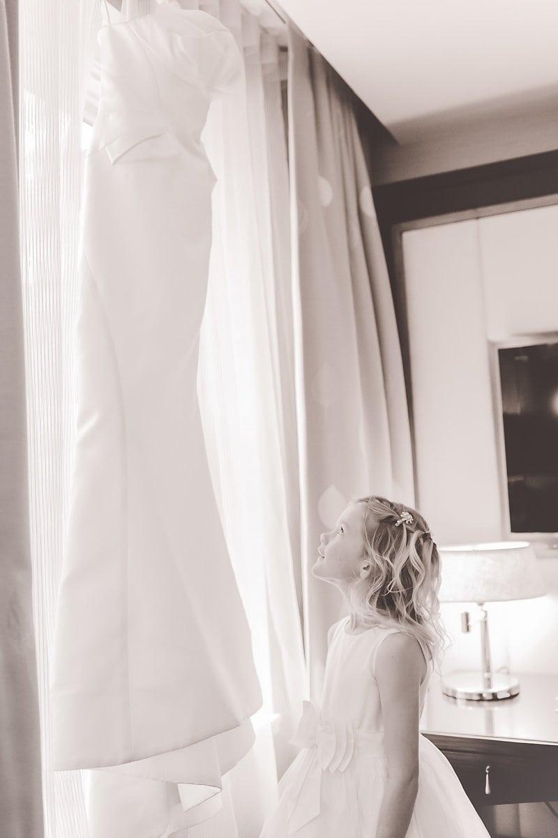 wedding dress flower girl