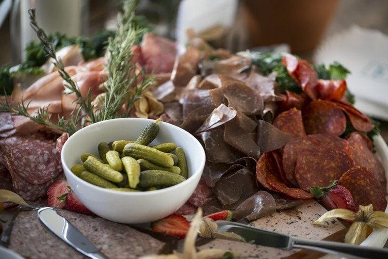 wedding food spread