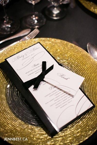 wedding menu idea