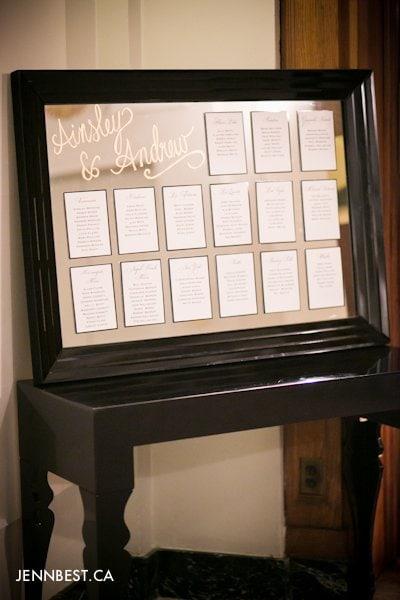 wedding seat chart ideas