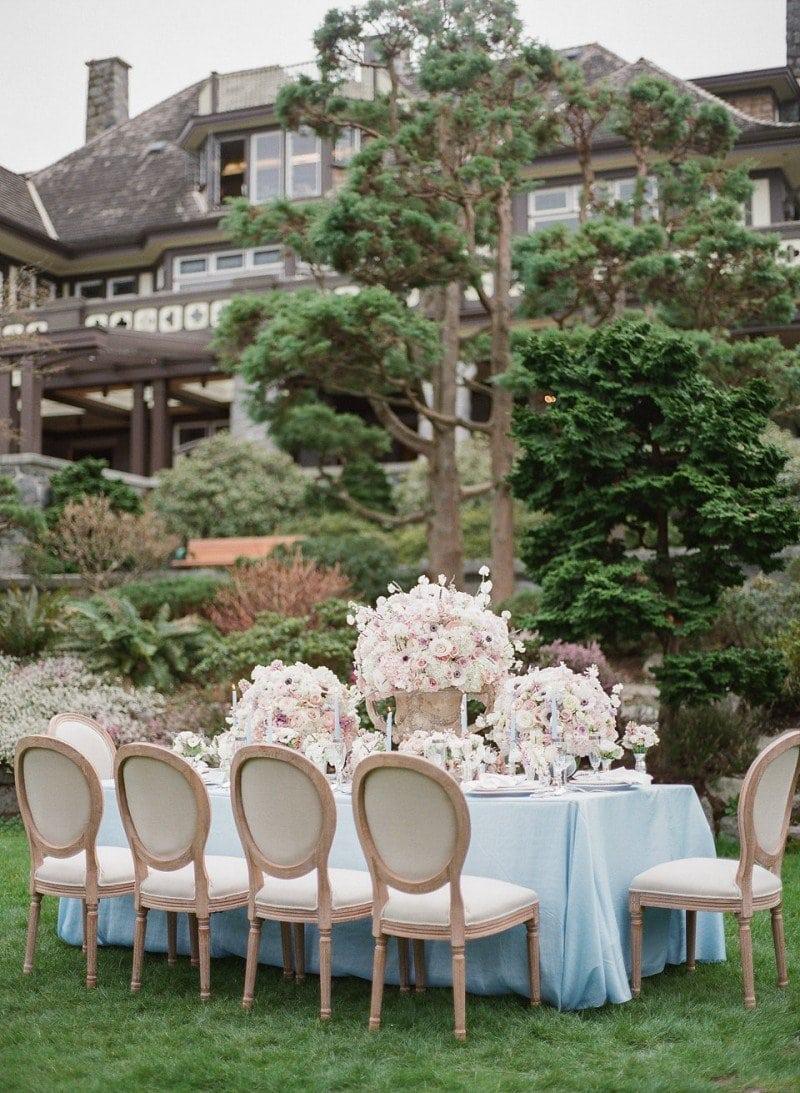 wedding table setting idea vancouver