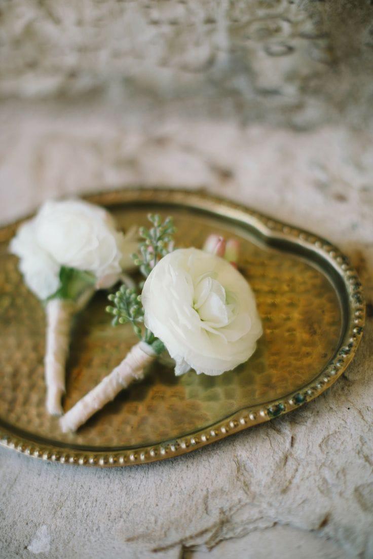 white bouts wedding