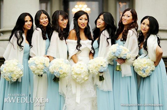 winter wedding blue