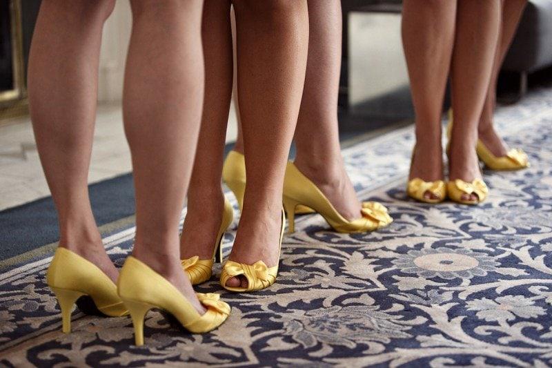 yellow bridesmaid shoes Vancouver Wedding Planner Alicia Keats