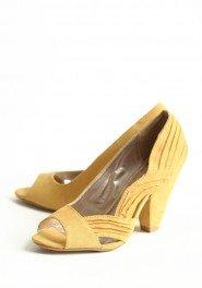 yellow wedding shoes vintage