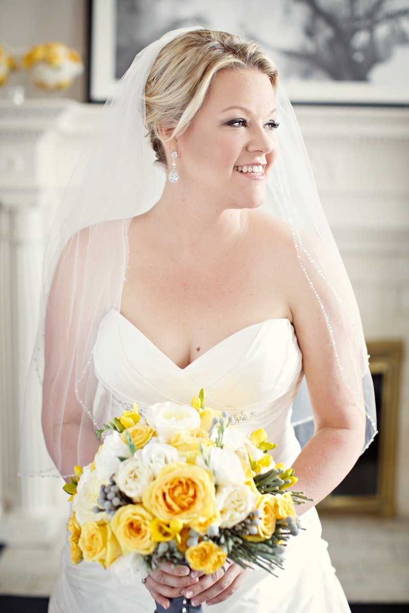 yellow white bouquet Vancouver Wedding Planner Alicia Keats